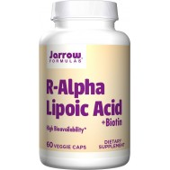 Alpha Lipoic Acid (R+) 60 capsules - R-alpha lipoic acid and biotin | Jarrow Formulas