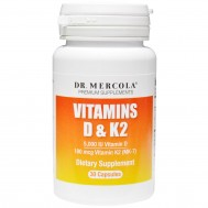 K+D - vitamin D3 5000iu + K2 180mcg 30 caps | Mercola Nutrition