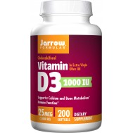D3 - cholecalciferol 1000ie 200 softgels - 25mcg | Jarrow Formulas