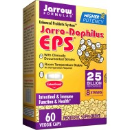 Jarro-Dophilus EPS Higher Potency 25 billion 60 capsules, the higher dosed travel probiotic | Jarrow Formulas
