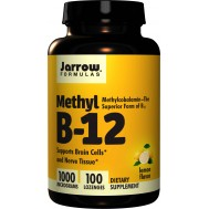 B12 - Methylcobalamin 1000mcg 100 lozenges lemon flavour | Jarrow Formulas