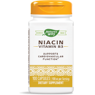 B3 - Niacin 100 capsules - 'flush' vorm | Nature's Way