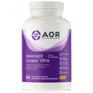 B - Ultra Advanced B complex 60 time-released tablets - benfotiamine, methyl-B12, 5MTHF, pantethine and PQQ | AOR
