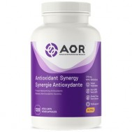 Antioxidant Synergy 120 capsules -  lipoic acid, vitamin C+E, co-Q10, NAC, selenium and resveratrol | AOR