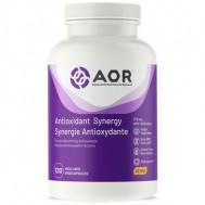 Antioxidant Synergy 120 capsules - alfaliponzuur, vitamine C+E, Q10, NAC, selenium en resveratrol | AOR