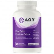 Fem Calm 60 capsules - Vitex, rhodiola, ashwagandha and B-vitamins | AOR