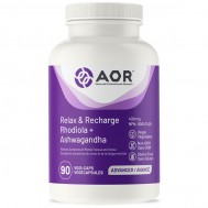 Relax and Recharge 90 capsules - ashwagandha and rhodiola | AOR