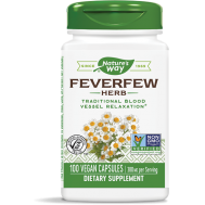 Feverfew Leaves 380mg 100 caps with 0.7% parthenolide | Nature's Way