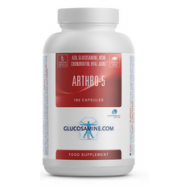 Arthro-5 180 capsules - glucosamine sulfate, chondroitin, MSM, ASU, and hyaluronic acid | Power Supplements