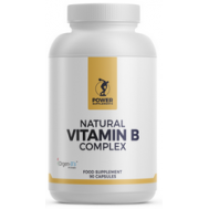 B - Natural Vitamin B Complex 90 capsules uit biologisch verbouwde tulsi, citroen en guave | Power Supplements