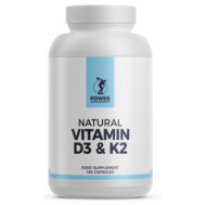 D+K - vitamin D3 1000iu + K2 75mcg 180 softgels | Power Supplements