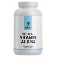 D+K - vitamin D3 1000iu + K2 75mcg 180 softgels | Power Supplements