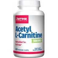 Acetyl-L-carnitine 500mg 60 capsules - the brain-specific carnitine | Jarrow Formulas