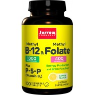 B - Methyl B12 1mg & MethylFolate 400mcg 100 lozenges | Jarrow Formulas