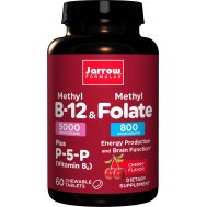 B - Methyl B12 5mg & Methyl Folate 800mcg 60 lozenges | Jarrow Formulas