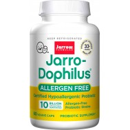 Jarro-Dophilus Allergen-Free 10 billion 60 capsules - 6 beneficial certified allergen free strains | Jarrow Formulas
