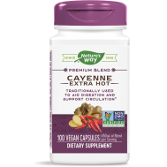 Cayenne Extra Hot 100 capsules - cayenne, gember en hagedoorn | Nature's Way