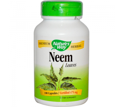 Neem leaves 100 caps - leaf from Azadirachta indica | Nature's Way