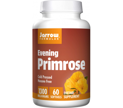 Primrose 1300mg 60 softgels - cold pressed evening primrose oil (GLA) - essential omega 6 fatty acid GLA | Jarrow Formulas