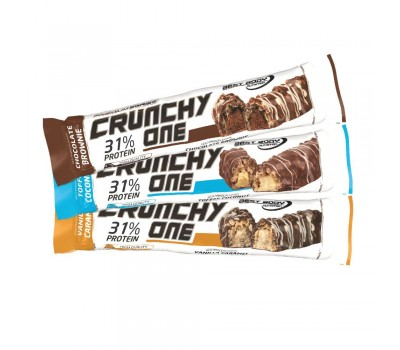 Crunchy One Protein Bar 51g - 21 crispy protein bars with delicious chocolate coating in three flavours | Best Body