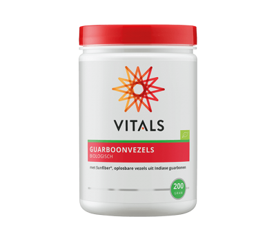 Guarboonvezels 200g with Sunfiber®, a soluble fiber from biologically grown Indian guar beans   Vitals