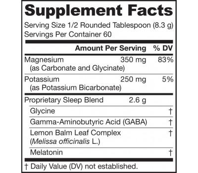 Soothing Night powder for restful sleep - magnesium, potassium, glycine, GABA, lemon balm and 3mg melatonin | Jarrow Formulas