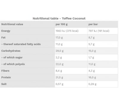 Crunchy One Toffee Coconut  - knapperige eiwitreep met heerlijk laagje chocolade in 3 verschillende smaken | Best Body