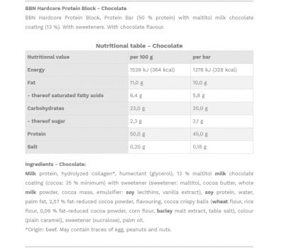 Best Body Protein Block Chocolate