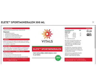 Elete Sport drops 300ml - natural electrolytes for athletes and pets   Vitals