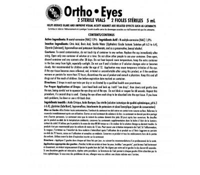 Ortho Eyes 2x5ml drops - N-acetyl-L-carnosine | AOR