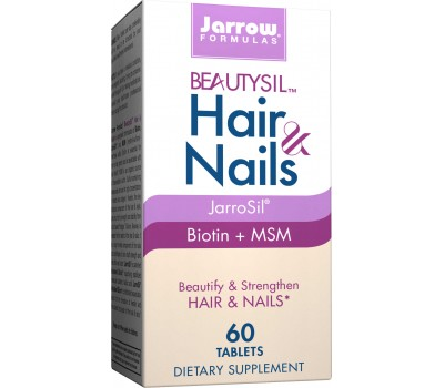 Beautysil Hair & Nails 60 tablets - biologically active silicon with biotin and MSM | Jarrow Formulas