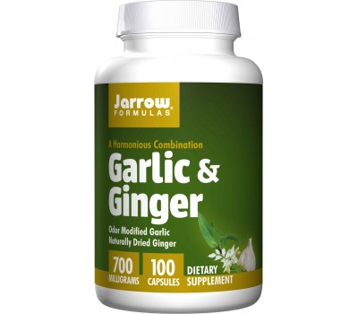 Organic Garlic & Ginger 100 caps - natural source of selenium, allicin and alliin | Jarrow Formulas