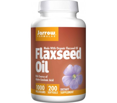 Organic Flaxseed Oil 200 softgels with lignans and omega 3 fatty acids | Jarrow Formulas