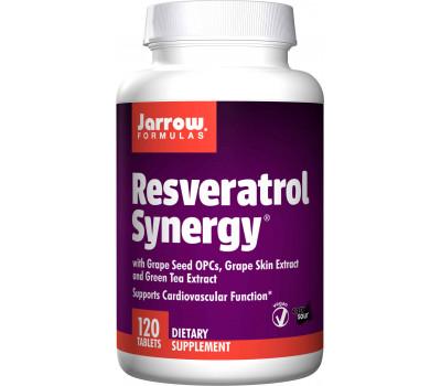 Resveratrol Synergy 120 tabs - 90% transresveratrol, green tea, grape seed, grape skin & quercetin | Jarrow Formulas