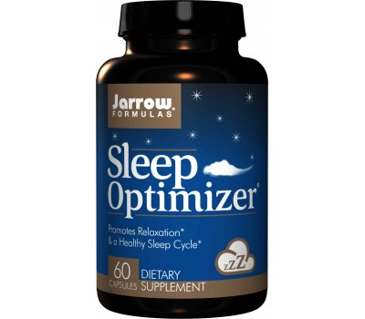 Sleep Optimizer 60 capsules  - GABA, melatonin, tryptophan, hops, lemon balm & valerian | Jarrow Formulas