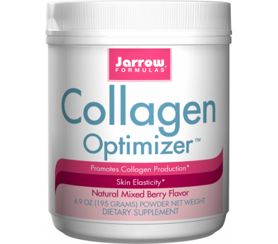 Collagen Optimizer 195g poeder - rundercollageen, druiveschilextract, geactiveerd silicium, vitamine C en B3 | Jarrow Formulas