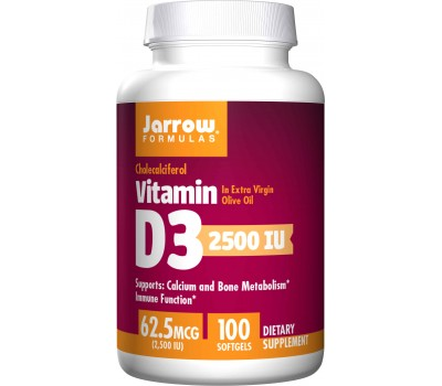 D3 - cholecalciferol 2500iu 100 softgels - 62,5mcg