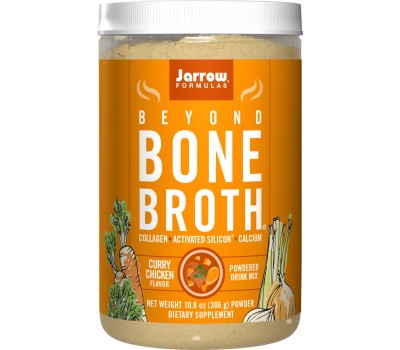 Beyond Bone Broth Chicken Curry 306g - curried chicken drink mix with collagen peptides and minerals | Jarrow Formulas