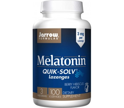 Melatonin Fast Melt 3mg 100 lozenges berry hibiscus flavour - melatonin for fast absorption | Jarrow Formulas