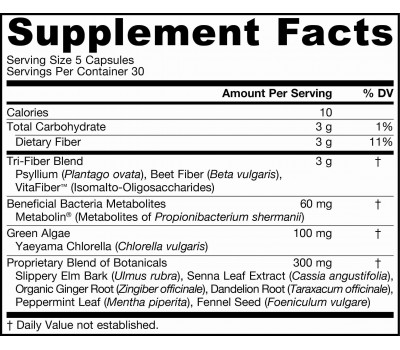 Fiber Perfect 150 capsules - fiber, chlorella & herbs | Jarrow Formulas
