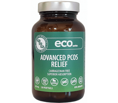 Advanced PCOS Relief 120 softgels - inositol (myo-inositol + D-chiro-inositol) and 5-MTHF  | AOR