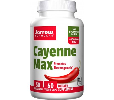 Cayenne Max 60 capsules - - highly concentrated cayenne fruit extract | Jarrow Formulas
