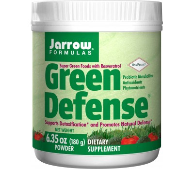 Green Defense 180g - grasses, chlorofyll,vegetables and botanicals | Jarrow Formulas