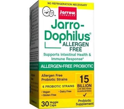 Allergen-Free High Potency Jarro-Dophilus 15 miljard 30 capsules  - 6 goedaardige gecertificeerd hypo-allergene bacteriestammen | Jarrow Formulas