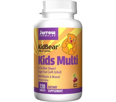 Kid BearKids Multi 120 kauwtabletten - ijzervrije kauwmultivitamine voor peuters, kleuters en jonge kinderen | Jarrow Formulas