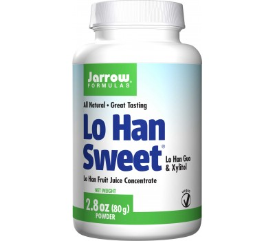 Lo Han Sweet 80g - Momordica grosvenorii, xylitol & inuline-FOS - natuurlijke zoetstof   Jarrow Formulas