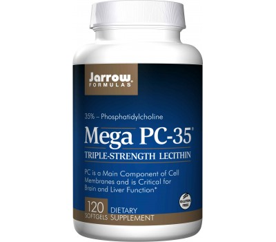 Lecithin Mega PC-35 120 softgels - fosfatidylcholine uit lecithine | Jarrow Formulas