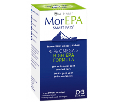 MorEPA 60 softgels - hooggedoseerde EPA-formule   Minami Nutrition