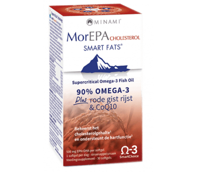 MorEPA Cholesterol 30 softgels - omega-3, red yeast rice, co-enzyme Q10 and B-vitamins | Minami Nutrition