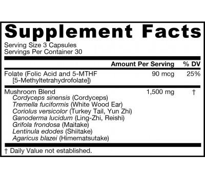 Mushroom Optimizer 90 capsules - cordyceps , shiitake & 5 andere paddestoelen | Jarrow Formulas